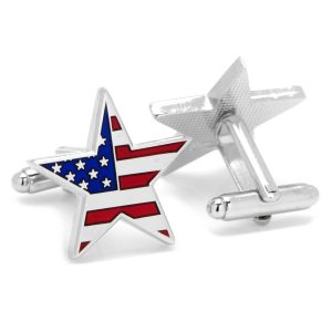 American Flag Star Cufflinks