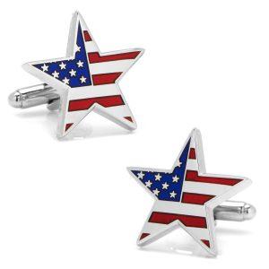 American Flag Star Cufflinks