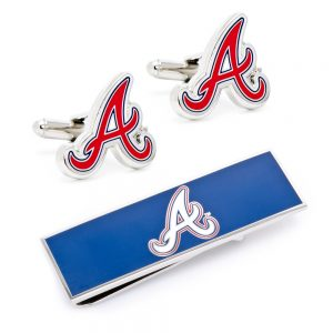 Atlanta Braves Cufflinks and Money Clip Gift Set