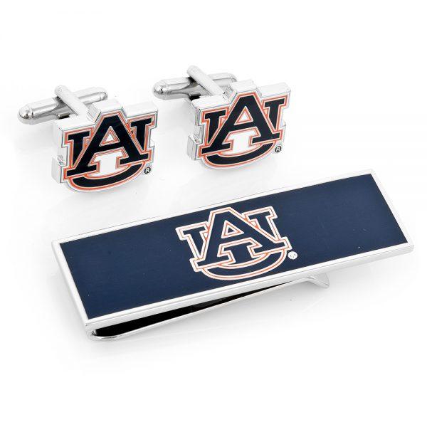 Auburn University Tigers Cufflinks and Money Clip Gift Set