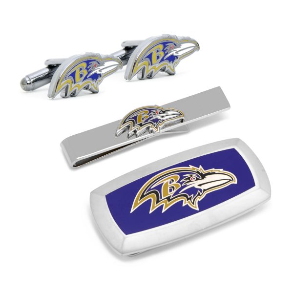 Baltimore Ravens Head 3-Piece Cushion Gift Set
