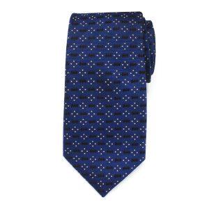 Batman Icon Diamond Dot Navy Mens Tie