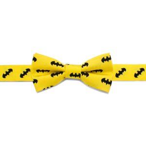 Batman Yellow Boys' Silk Bow Tie