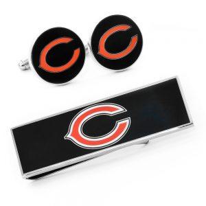 Chicago Bears Cufflinks and Money Clip Gift Set