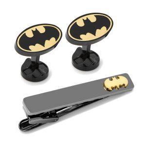 Batman Stainless Steel Cufflinks Tie Clip Gift Set