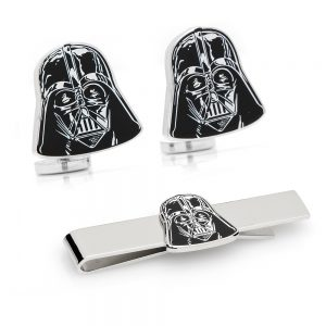 Darth Vader Head Cufflinks Tie Bar Gift Set