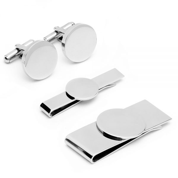 Engravable Round Infinity 3-Piece Gift Set