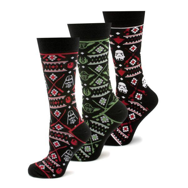 Holiday 2017 Tacky Sweater 3 Pair Socks Gift Set