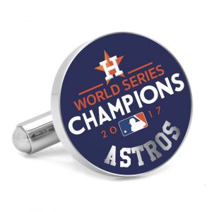 Houston Astros 2017 World Series Champions Navy Cufflinks