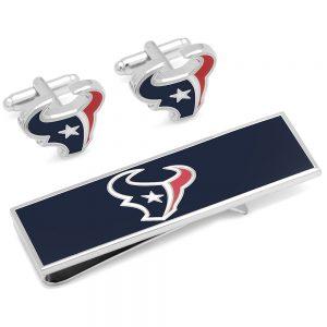 Houston Texans Cufflinks and Money Clip Gift Set