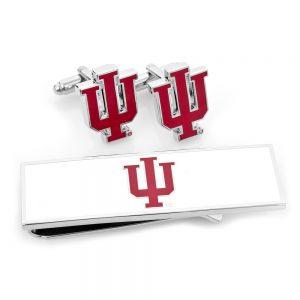 Indiana University Hoosiers Cufflink and Money Clip Gift Set