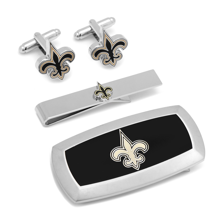 New Orleans Saints 3 Piece Cushion Gift Set Cufflink Vault