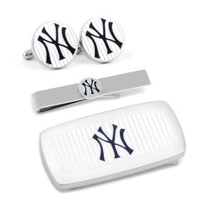 New York Yankees Pinstripe 3-Piece Cushion Gift Set