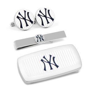 New York Yankees Pinstripe 3-Piece Cushion Gift Set