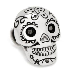 3D DOD Skull Lapel Pin