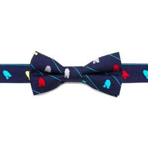 R2D2 Striped Boys' Silk Bow Tie