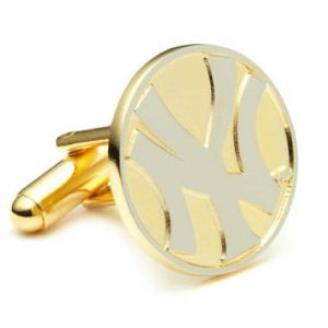 Two Tone New York Yankees Cufflinks