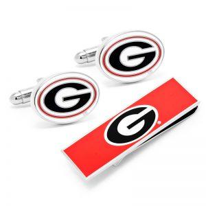 University of Georgia Cufflinks and Money Clip Gift Set