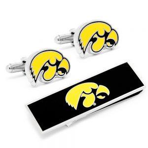 University of Iowa Hawkeyes Cufflink and Money Clip Gift Set