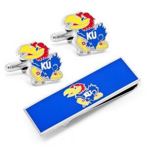 University of Kansas Cufflinks and Money Clip Gift Set
