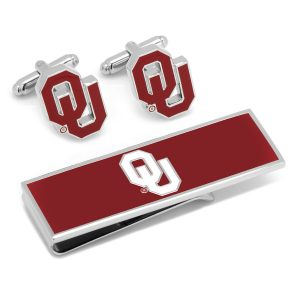 University of Oklahoma Cufflinks and Money Clip Gift Set