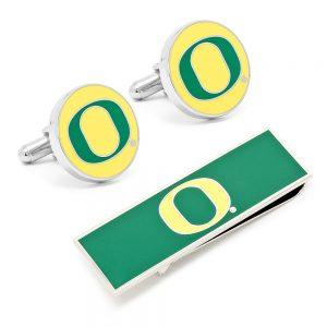 University of Oregon Ducks Cufflinks and Money Clip Gift Set