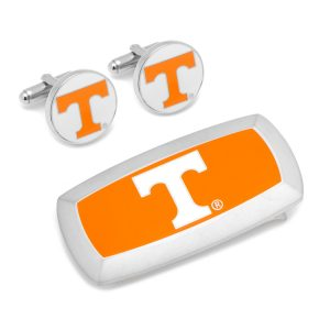 University of Tennessee Volunteers Cufflinks and Cushion Money Clip Gift Set